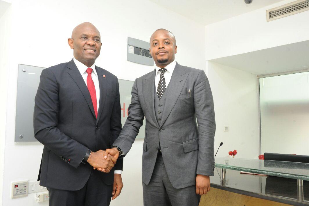 Stanley Uzochukwu pays courtesy visit to Tony Elumelu