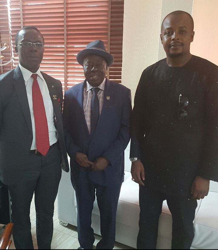 Stanley Uzochukwu pays courtesy visit to Chief Afe Babalola of ABUAD