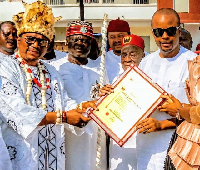 Ancient Kingdom of Alor in Anambra honors Dr. Stanley Uzochukwu